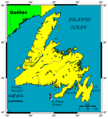 map canada east coast newfoundland island