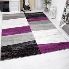 Wohnzimmer Design Schwarz Designer Wohnzimmer Teppich Geometrisches Muster Meliert Lila Grau