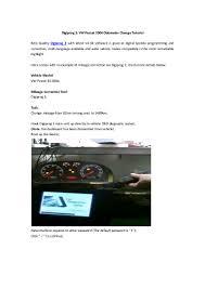 aobd2shop digiprog 3 vw passat 2004 odometer change tutorial