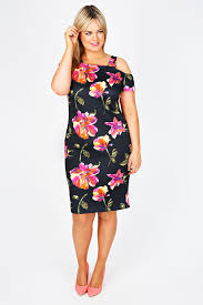 neon floral off the shoulder skater dress u2013 killer kurves