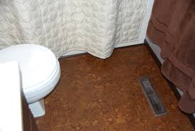 dark cork flooring bathroom