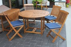 Folding Patio Dining Set - beachcrest home wiscon round fold and store 5 piece dining set
