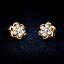 real diamond earrings beautiful real diamond daily wear earrings buy diamond earring