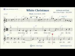 white christmas sheet music lyrics chords karaoke youtube