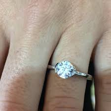 bezel set engagement ring ritani solitaire semi bezel set diamond engagement ring