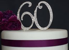 rhinestone cake 60 rhinestone cake topper silver anniversary or birthday cake