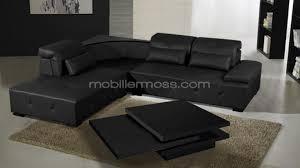canapé d angle cuir noir photos canapé d angle cuir noir