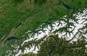 Satellite View Maps Map Of Switzerland Satellite Map Worldofmaps Net Online Maps
