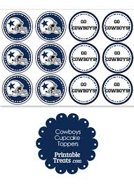dallas cowboys cupcake toppers from printabletreats com football