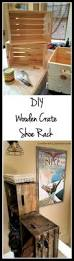 Diy Audio Equipment Rack Diy Wooden Crate Shoe Rack Live From Julie U0027s House