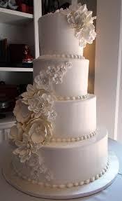 cake small white lotus flowers 2531474 weddbook