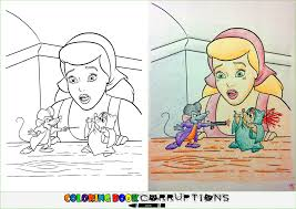 coloring book pictures gone wrong tiny violence coloring book corruptions
