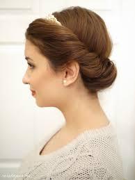 tuck in hairstyles tutorial the 1 minute princess bun sara du jour
