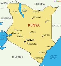 kenya map blank political kenya map with cities