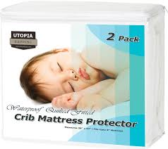 Waterproof Crib Mattress Protector Utopia Bedding Waterproof Crib Mattress Protector