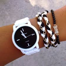 silicone bracelet watches images Jewels watch bracelets bows black and white studded beanies jpg
