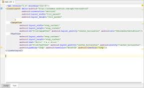 android textview layout gravity java editing ui layout using text editor help intellij idea