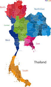Mail Map Thailand Map Blank Political Thailand Map With Cities