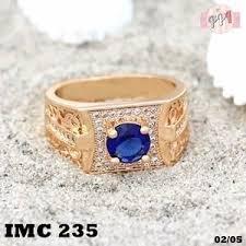 cincin lapis emas cincin lapis emas xuping batu blue saphire gold lapis emas 18k