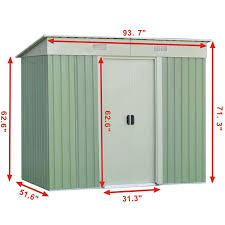 Suncast Horizontal Utility Shed Bms2500 by Amazon Com Goplus Galvanized Steel Outdoor Garden Storage Shed 4