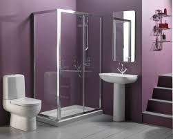 bathroom purple latest bathroom color trends with glass door