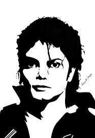 michael jackson stencil portrait by serena de grazia stencil