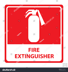 vector fire extinguisher signeps10 stock vector 227622901