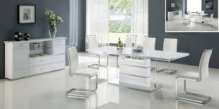 white dining room set dining room the beautiful white leather set photos house design