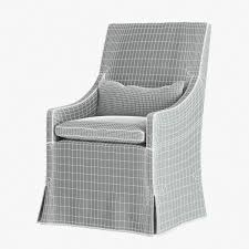 Slipcovered Arm Chair Restoration Hardware Belgian Slope Arm Slipcovered Armchair 3d