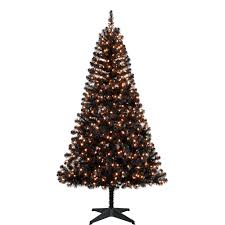 holiday time pre lit 6 5 u0027 madison christmas tree black clear