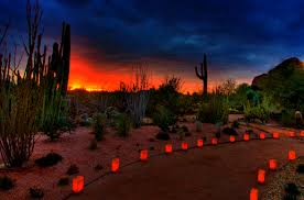Scottsdale Az Botanical Gardens Las Noches De Las Luminarias At Desert Botanical Garden In