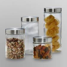 home accessories anchor hocking glass canisters with silver lid