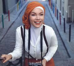 tutorial hijab turban ala april jasmine hijab model hana dewi sandra hijab style 6