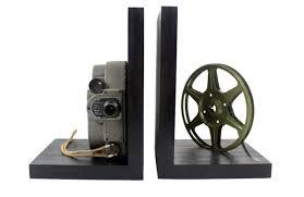Vintage Camera Decor Revere 8 Model 88 Vintage Camera Bookends Dvd Holder Movie