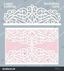 Official Invitation Card Sample Vector Die Laser Cut Wedding Card Stock Vector 398863111