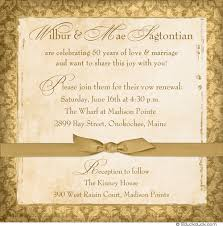 wedding vow cards sweet 50th anniversary photo invitation golden anniversary