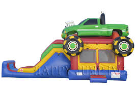 Backyard Bounce Backyard Jump U0026 Slide Monster Truck Bounce House For Sale