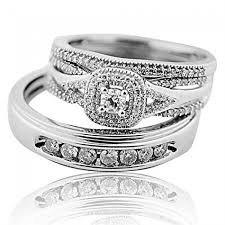 His And Hers Wedding Ring Sets by Wedding Rings Set White Gold 0 65ct Diamonds Trio Set His And Hers