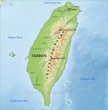 Geographical Map Of South America Taiwan Physical Map