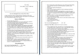 sample resume police officer example police officer resume