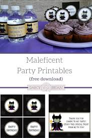 throw a wickedly awesome party with maleficent party printables