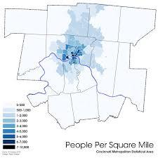 Map Of Cincinnati Inner City Neighborhoods Center Of Population Economic Power In