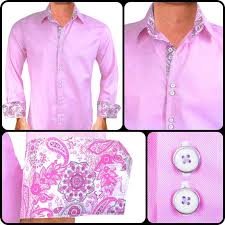 pink with grey dress shirts