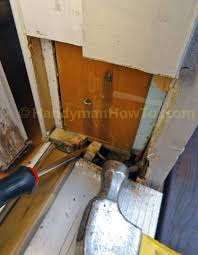 Barn Door Frame by Rehang Door Frame U0026 Repairing Door Frame Repairing Rotted Door