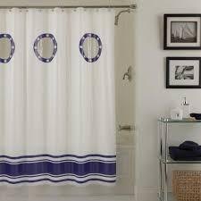 Nautical Shower Curtains Porthole Nautical Shower Curtain Whyrll