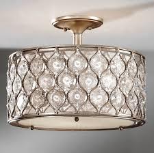 crystal semi flush mount lighting sf289bus crystal lucia semi flush ceiling fixture