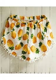 pom pom cuisine pineapple pom pom shorts happiness boutique
