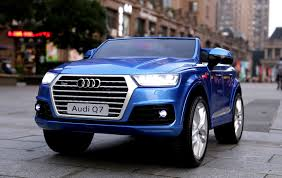 royal blue jeep audi q7 licensed kids electric ride on car metallic blue