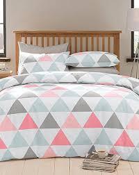 triangle bedding triangle geometric duvet cover set home essentials duvet