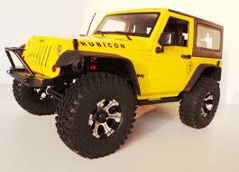 jeep rock crawler rc scale truck kit 2016 mex jeep jk 1 10 offroad 2d yellow